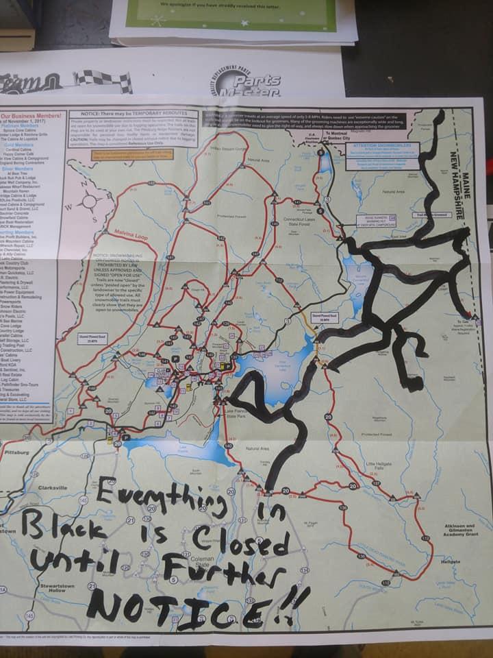 Open Trails starting  Saturday. Dec. 15th.